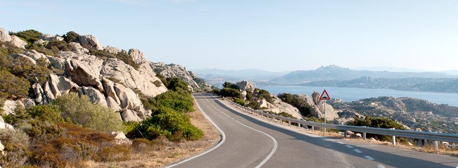 Road by the ocean.