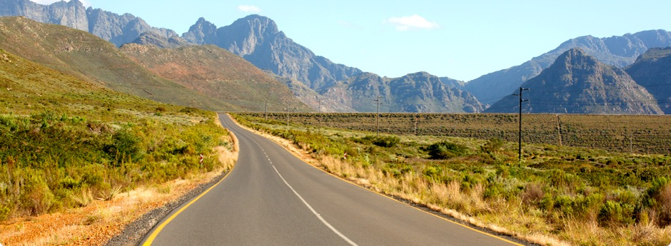 Road by mountains.