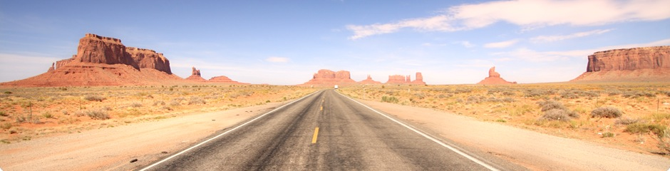 Road in the desert.
