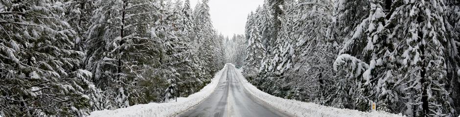 Snowy road.